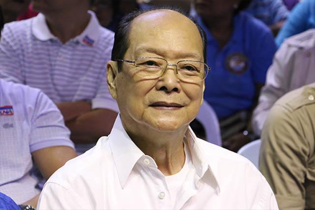 Former Senator Emesto Maceda